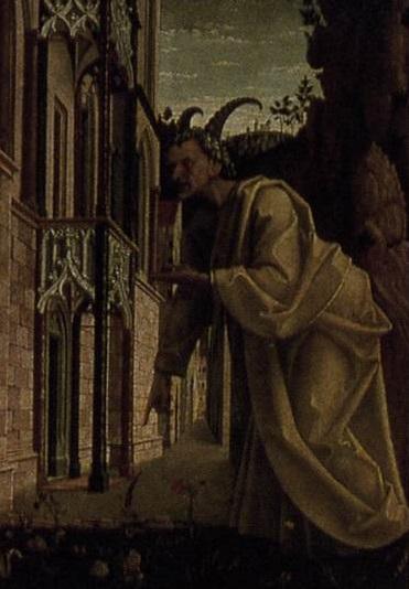 Detail The Temptation Of Christ Michael Pacher 1479 81